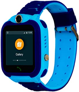 Turet Kids Silicone Phone Smartwatch with GPS Locator - Marshmallow (Blue)