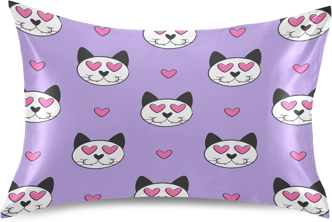 Cute Baby Heart Be super welcome Cat Pillowcase Case Covers Pillow Protector Soft Challenge the lowest price