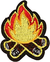 XUNHUI Campfire Patches Embroidery Fire Patch for Clothes Ironing on Stickers Sewing Applique for Jackets Jeans T-Shirts Shoes Backpack Sticker 6 Pieces
