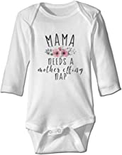Mama Needs A Mother Effing Nap Cute Bodysuit Toddler Rompers for Infant Unisex Baby Long Sleeve