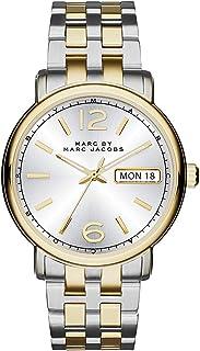 ساعة فيرغوس بمينا لون فضي وسوار من الستانلس ستيل للنساء من مارك باي مارك جايكوب -MBM3426