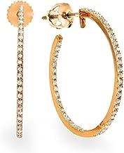 Best rose gold diamond hoop earrings Reviews