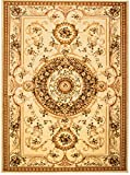Carpeto Rugs Tapis Salon Ecru 160 x 220 cm Oriental/Iskander Collection