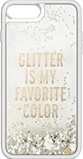 Kate Spade New York Clear Liquid Glitter Case for iPhone 8 Plus & iPhone 7 Plus - Glitter Is My Favorite Color (Gold)