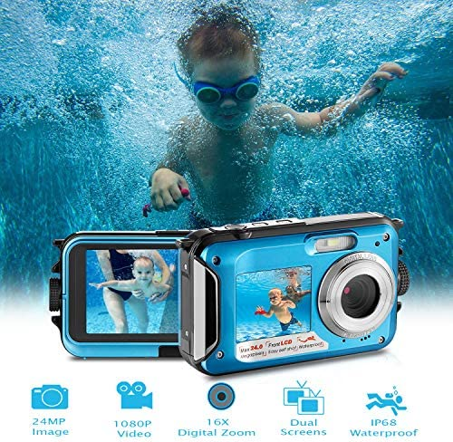 Waterproof Digital Camera Full HD 1080P Underwater Camera 24MP Video Recorder Camcorder Point product image
