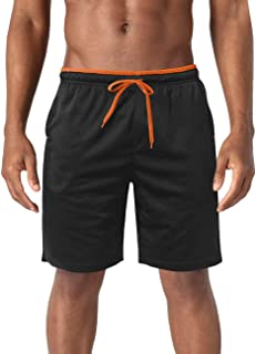 BIYLACLESEN Men's Mesh Shorts with Pockets Quick Dry Lightweight Breathable Running Shorts