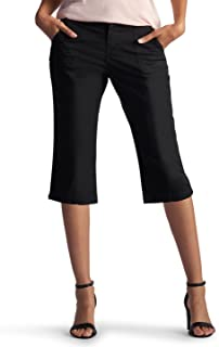 LEE Women's Relaxed Fit Lorelie Knit Waist Capri Pant