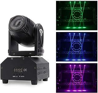 sahadsbv 30W DJ Disco Projector Lights Spot Moving Head Light RGBW Stage DJ Lights for Party Stage Lights Restaurant Live ...