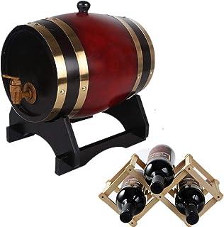 HWhome Seau De Rangement Ménager Polyvalent Baril de Whiskey, Carafe de Seau Vieillie en Chêne de 5 litres, Servant de Tab...