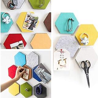 UYZ Tablero Hexagonal 3D Azulejos de Fieltro con Parte Trasera Adhesiva Completa, Tablero Autoadhesivo CREA el tuyo en tu ...