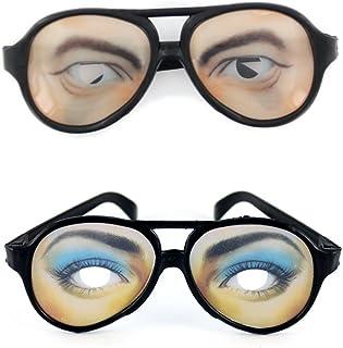 ec2e3a8b88 2 X Cristales De Gafas Broma Gag Ojos Divertidos Para Hombre Vestido De  Lujo Del Partido