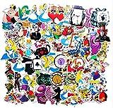GSNY Dibujos Animados Alicia en el país de Las Maravillas Graffiti Pegatinas Maleta teléfono móvil monopatín Impermeable PVC Pegatinas de Coche 70 Hojas