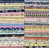 GUQI 綿 生地 はぎれセット 花柄 DIY手作り カットクロス パッチワーク 布 約30cm×30cm (50枚)