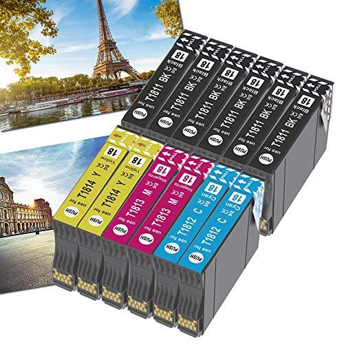 OGOUGUAN 18XL - Cartuchos de tinta para 18 XL compatibles con Expression Home XP-322 XP-215 XP-205 XP-225 XP-305 XP-325 XP-422 XP-405 XP-415 XP-425 XP-315 XP-312 XP-425 XP-425 (12 unidades)