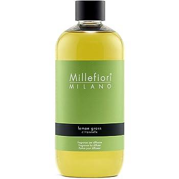 Millefiori Milano Ricarica per Diffusore di Aromi per Ambiente, Fragranza, Lemon Grass, 500 ml