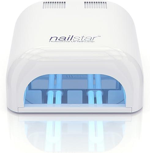 NailStar Lampe Sèche-ongles à UV Professionnelle 36 Watt pour Manucure et Pédicure, Laque, Shellac, Gel et Vernis - M...