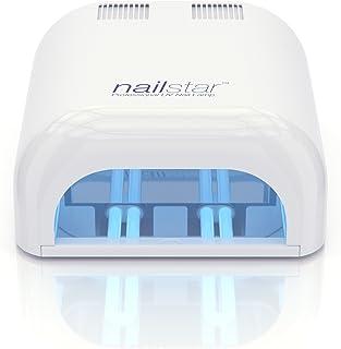 NailStar Lámpara UV Profesional Seca Esmalte de Uñas (36 W) con Temporizador de 120 y 180 Segundos para Método Shellac y ...
