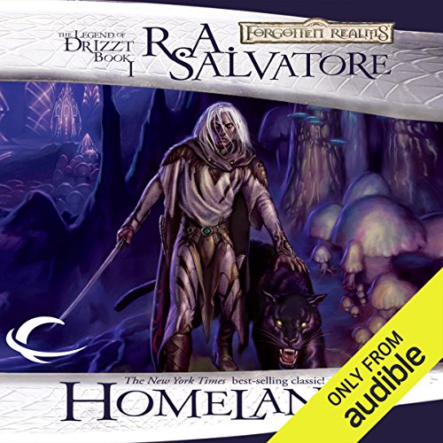 Homeland     Legend of Drizzt: Dark Elf Trilogy, Book 1              By:                                                                                                                                 R. A. Salvatore                               Narrated by:                                                                                                                                 Victor Bevine                      Length: 10 hrs and 48 mins     599 ratings     Overall 4.6