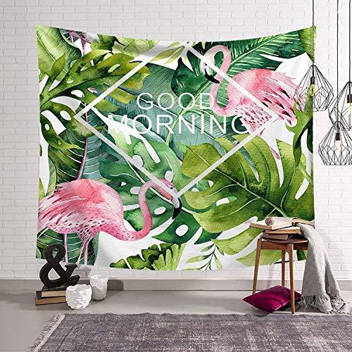 Preisvergleich Produktbild OTXA Wandteppich Dekoratives Wandbild Hängen Tuch Kunst Wand Grünpflanze Tapisserie Tapisserie Dekoration Strandtuch Sk-002 95X73 Schleifen Modelle