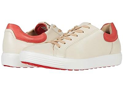 ECCO Soft 7 Street Sneaker (Vanilla/Coral Blush) Women