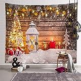 億騰 クリスマス タペストリー おしゃれ壁掛け クリスマス 背景布 装飾布 欧米風 インテリア 多機能 壁飾り パーティー イベント用/お店/人気 プレゼント/お祝い (150x100cm)