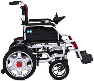 GAOXP Lightweight Dual Function Foldable Power Wheelchair (24A Lead-Acid Batteries), Drive with Electric Power Or Use As Manual Wheelchair