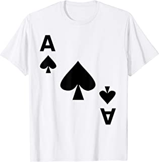 Ace of Spades Halloween Deck Card Costume Matching Game Gift T-Shirt