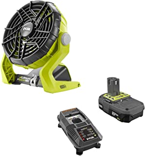 Ryobi 18-Volt ONE+ Hybrid Portable Fan(P3320) with P163 Lithium-Ion Battery(2.00Ah) and Charger (Renewed)