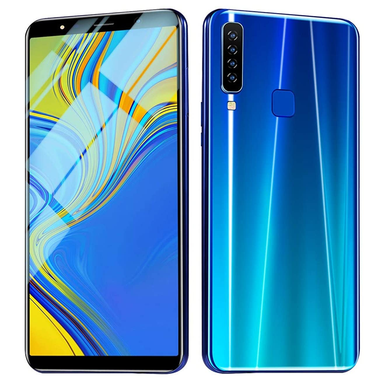 Newest! 6.1 Inch A9 Android 8.1 Unlocked Smartphone 3G LTE Eight Cores 1GB / 16GB LCD Full Touchscreen 1660x1080 Dual SIM Slots Cellphone Unlocked Mobile Phone with Quad Cameras GPS Bluetooth (Blue)