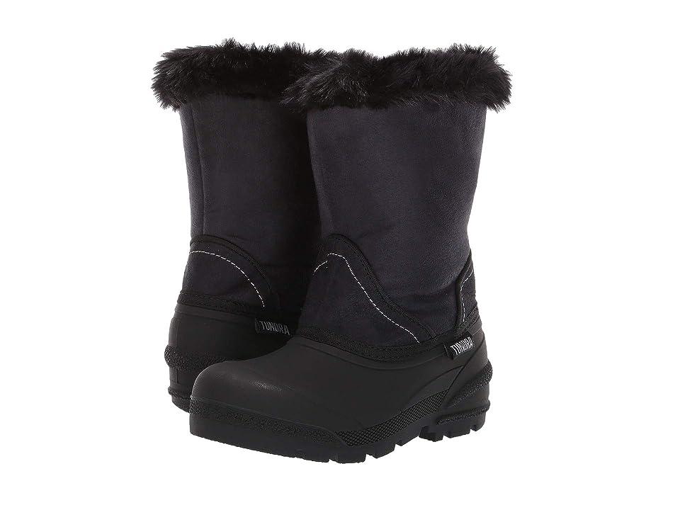 Tundra Boots Kids Okemo (Little Kid/Big Kid) (Black) Girls Shoes