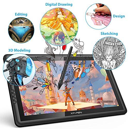 XP-PEN Artist16 Pro 15.6 Pulgadas IPS Dibujo Monitor Pen Display Dibujo Tablet con Teclas de Acceso Directo y Soporte Ajustable (8192 Niveles presión)