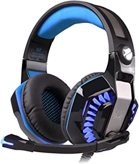 Kotion Each G2000 FT Gaming Headset for Computer Games, PS4,Laptops, Tablet, Smartphones, Black, medium
