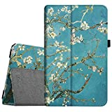 Fintie Folio Case for Samsung Galaxy Tab E 9.6 - Slim Fit Premium Vegan Leather Cover for Tab E/Tab E Nook 9.6-Inch Tablet (SM-T560/T561/T565 & SM-T567V Verizon 4G LTE Version), Blossom