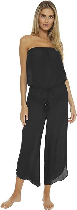 Wayfarer Textured Woven Jumpsuit Cover-Up