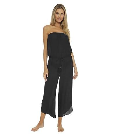 BECCA by Rebecca Virtue Wayfarer Textured Woven Jumpsuit Cover-Up (Black) Women