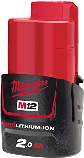 Milwaukee M12B2 - Batería de ión-litio (2,0 A), color rojo