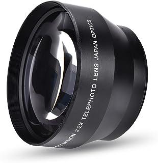 Camera Teleconverter Lens, 67mm 2.2X Universal DSLR Camera Teleconverter Telephoto Opitical Glass Lens for Nikon Sony Cano...