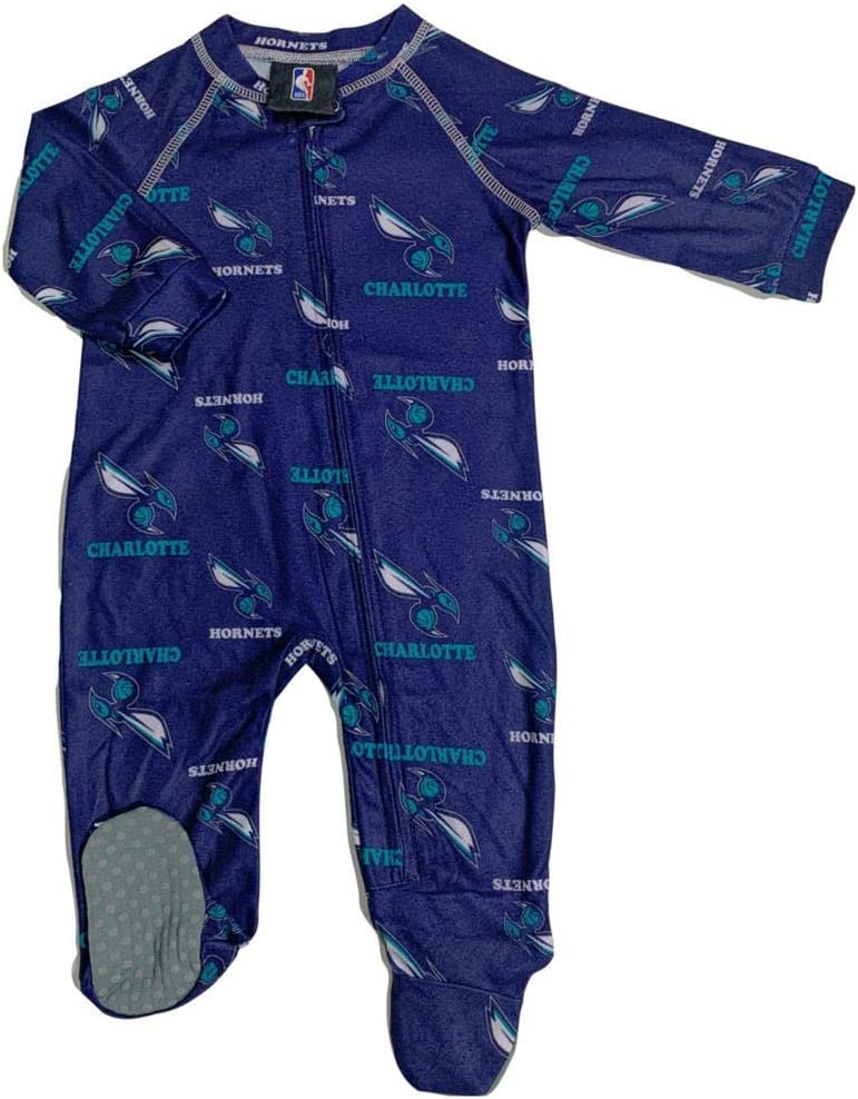 Outerstuff Sales of SALE items from new works Infant Toddler Charlotte Hornets Zip Coverall Cheap mail order shopping Up Slee