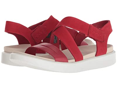 ECCO Flowt Cross Sandal (Chilli Red/Chilli Red Cow Leather/Cow Nubuck) Women