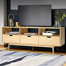 Artiss TV Unit 160cm Length Entertainment Unit Wooden TV Cabinet Scandinavian Console Table, Natural