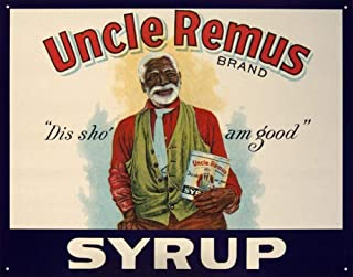 MMNGT TIN Sign ~ Uncle Remus Syrup DIS SHO' AM Good! TIN Sign 7.8X11.8 INCH