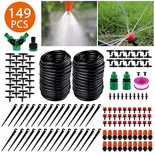 Sistema de riego de jardín, Emooqi 149 Pcs Goteros para Equ