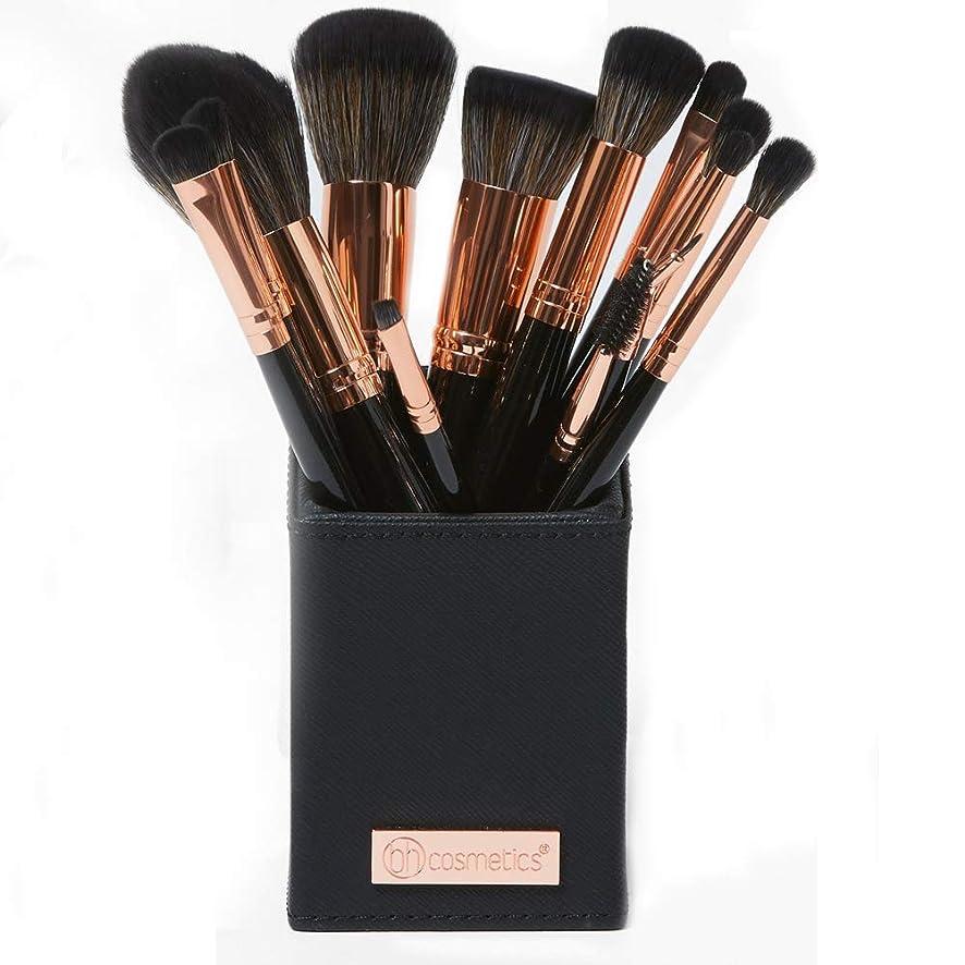 ラオス人弁護最近BH cosmetics メイクブラシ アイシャドウブラシ 化粧筆 貴族のゴールド メイクブラシセット13本セット 多機能メイクブラシケース付き収納便利