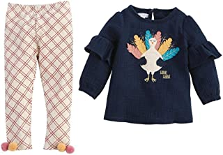 Mud Pie Baby Girls' Long Sleeve and Pant Set