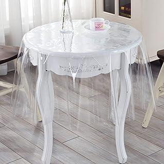 Ultra Mince Transparent PVC Nappe, Vinyle Personnalisée Linge De Table, Rond Plastique Huile-Preuve Résistant Aux Taches É...