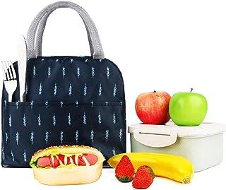 Andiker Sac-Repas isolé, Sac-Repas du Textile Oxford Imperméable, Sac à Lunch Chaud, Organisateur de Repas pour Homme, Fem...