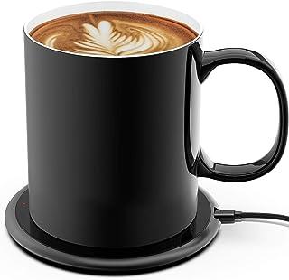 Coffee Mug Warmer 24Watt Intelligent Temperature Controlled Mug 131°F, Coffee Cup Warmer and Mug Set with Wireless Charge...