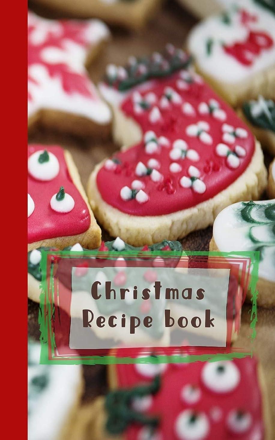 ドラマコットン到着するChristmas recipe book: Red, white and green cookies Recipe Book - Cookbook Journal of your all your Christmas food experiments