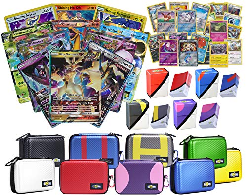 Totem World Pokemon Premium Collection Ultra Rare with 100 Pokemon Cards - Card Case - 100 Sleeves - Deck Box