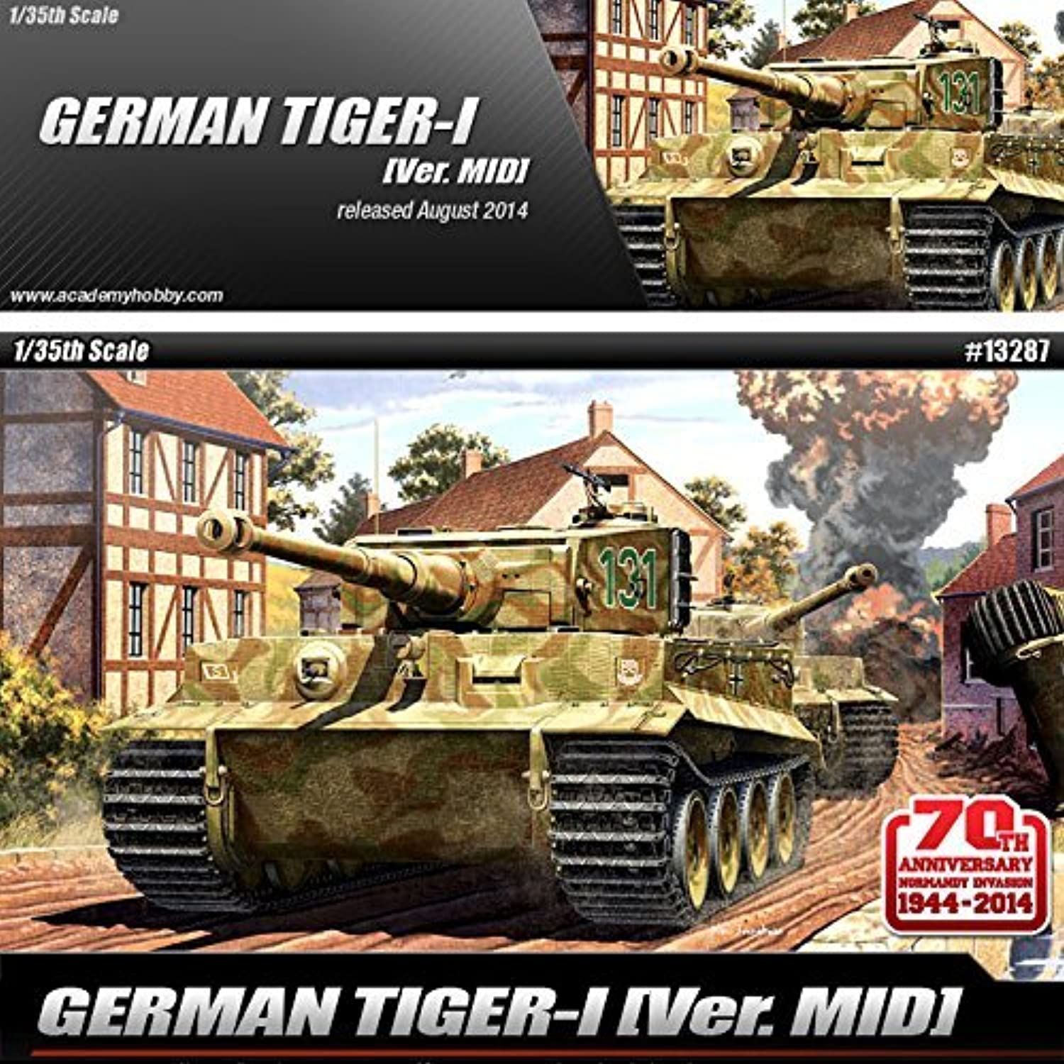 1 35 GERMAN TIGER-I VER.MID ACADEMY  13287 by Academy